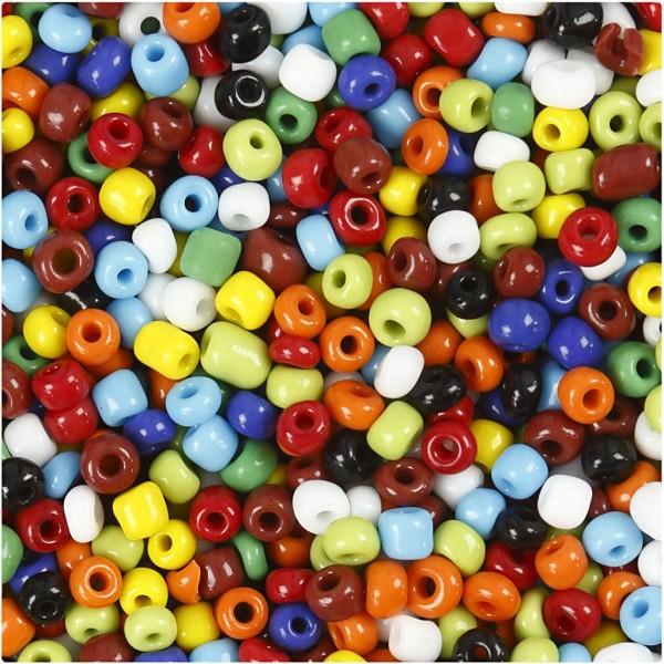 Perles Rocailles multicolore